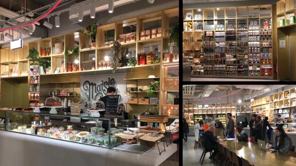Comptoirs de restaurations et rayons alimentaires aux Galeries Lafayette Champs Élysées