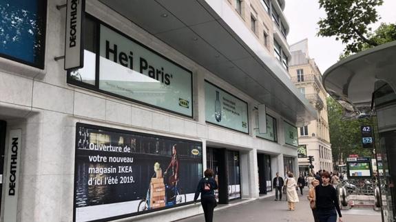 devanture du magasin Ikea à La Madeleine à Paris